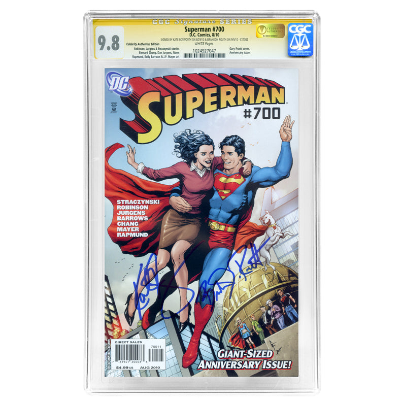 Kate Bosworth, Brandon Routh Autographed Superman #700 CGC SS 9.8