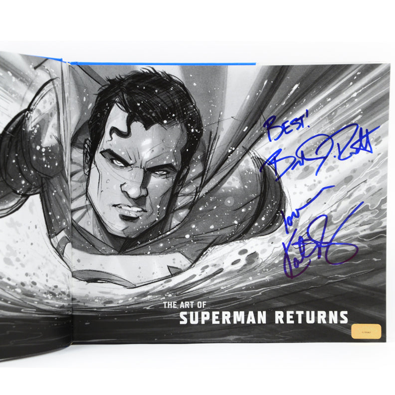 Brandon Routh and Kate Bosworth Autographed The Art of Superman Returns Book