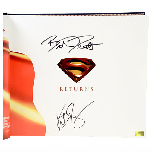 Brandon Routh and Kate Bosworth Autographed Superman Returns Book