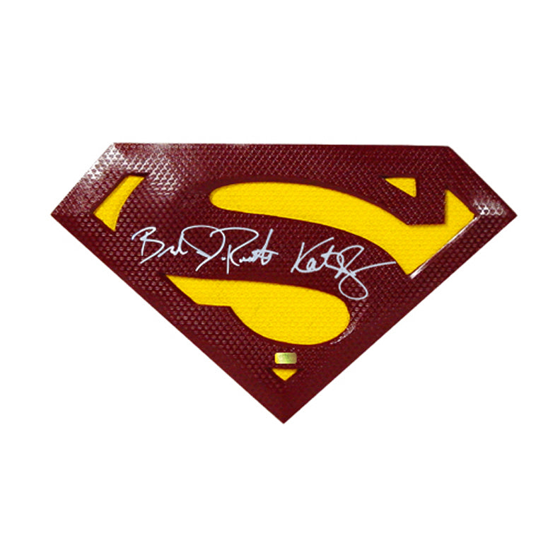 Brandon Routh and Kate Bosworth Autographed Superman Returns Superman Emblem Prop
