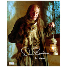 Load image into Gallery viewer, David Bradley Autographed Harry Potter Argus Filch and Mrs. Norris 8x10 Photo