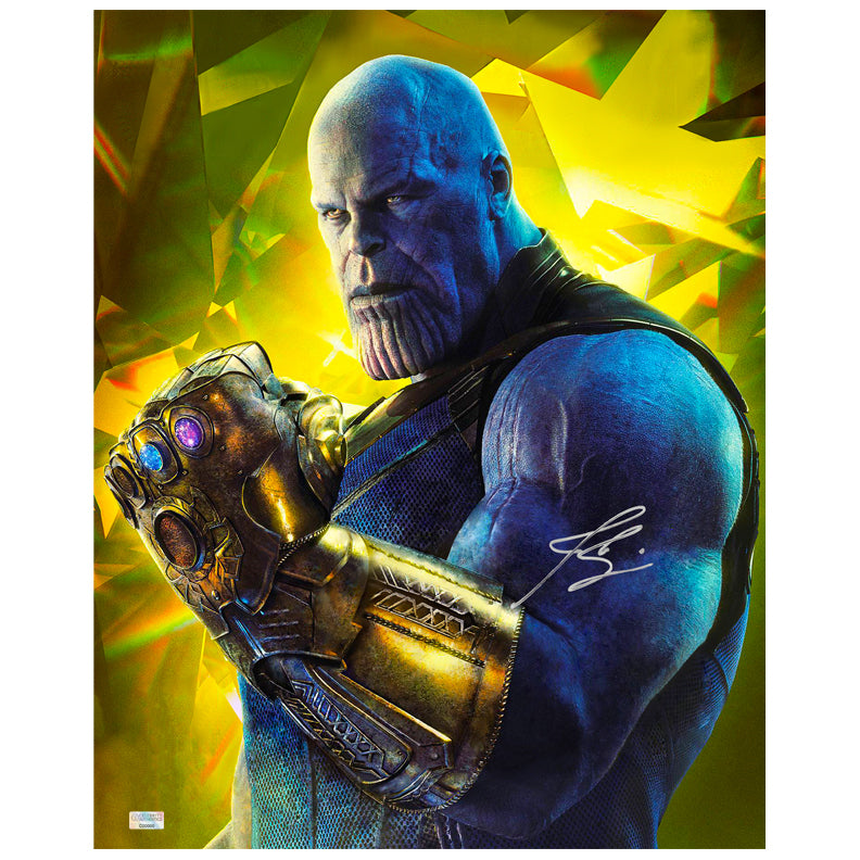 Josh Brolin Autographed Avengers Infinity War Thanos Gauntlet 16x20 Photo