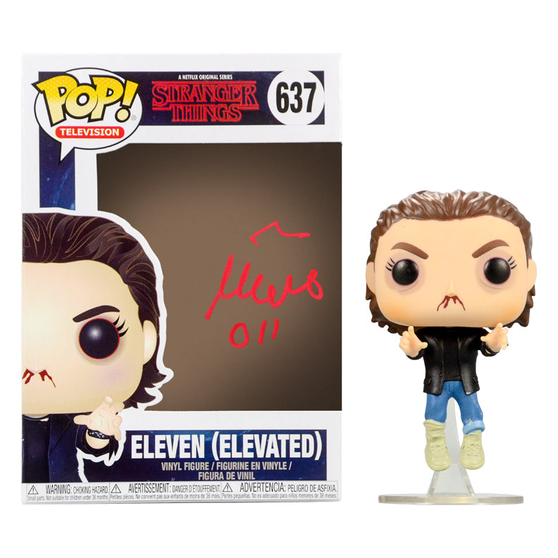 Millie Bobby Brown Autographed Stranger Things Eleven (Elevated) POP Vinyl #637