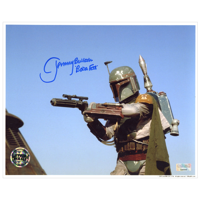 Jeremy Bulloch Autographed Star Wars: Return of the Jedi Boba Fett 8x10 Action Photo