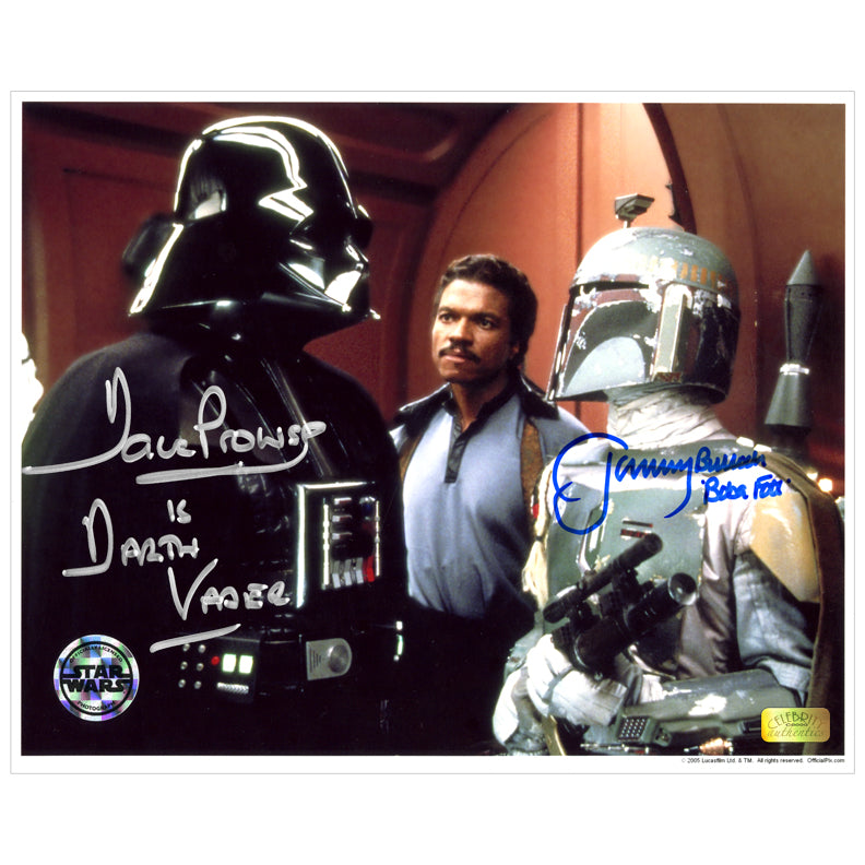 David Prowse and Jeremy Bulloch Autographed Star Wars Cloud City 8x10 Photo