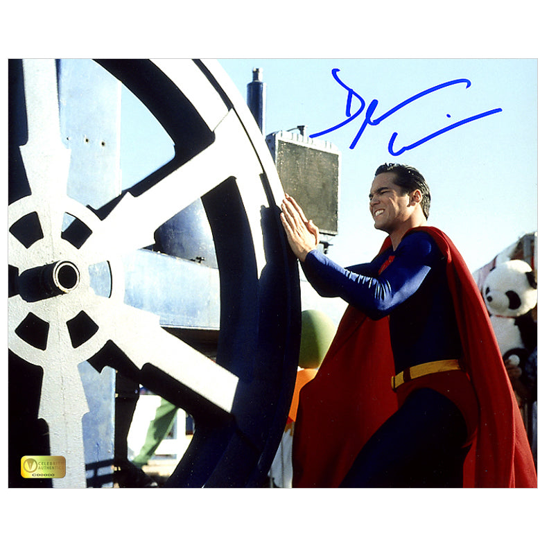 Dean Cain Autographed Lois & Clark: The New Adventures of Superman 8x10 Superman Action Photo