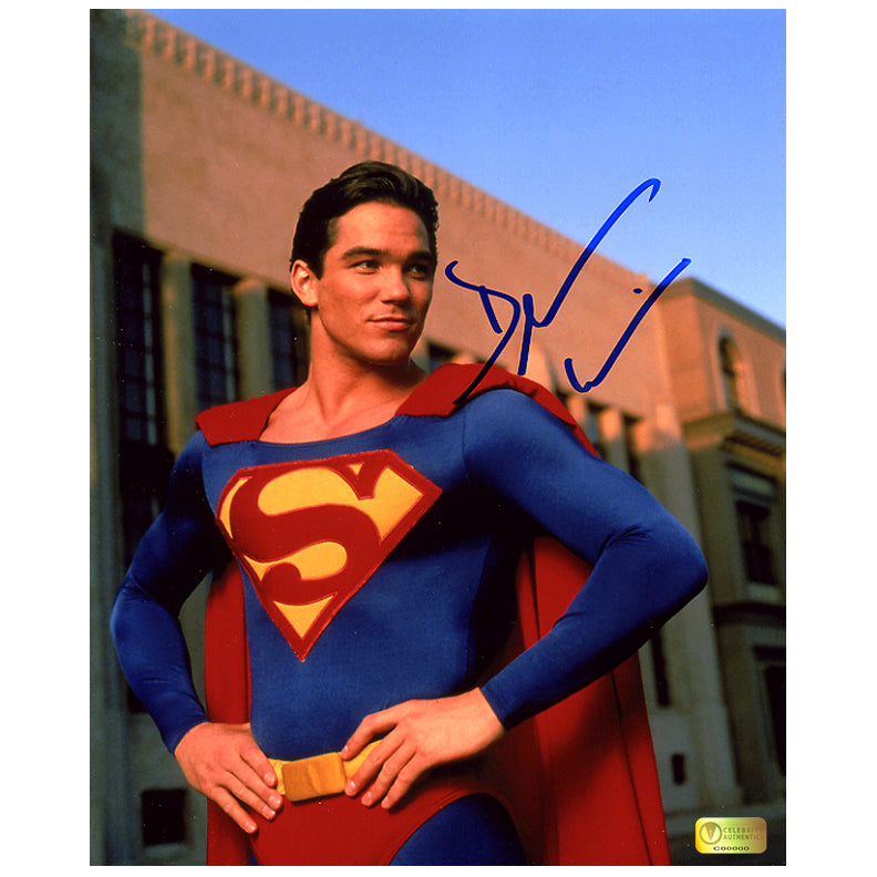Dean Cain Autographed Lois & Clark: The New Adventures of Superman Classic On Set Superman 8x10 Photo