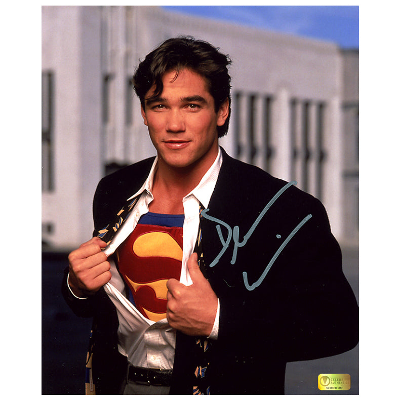 Dean Cain Autographed Lois & Clark: The New Adventures of Superman Kent to Superman Transition 8x10 Photo