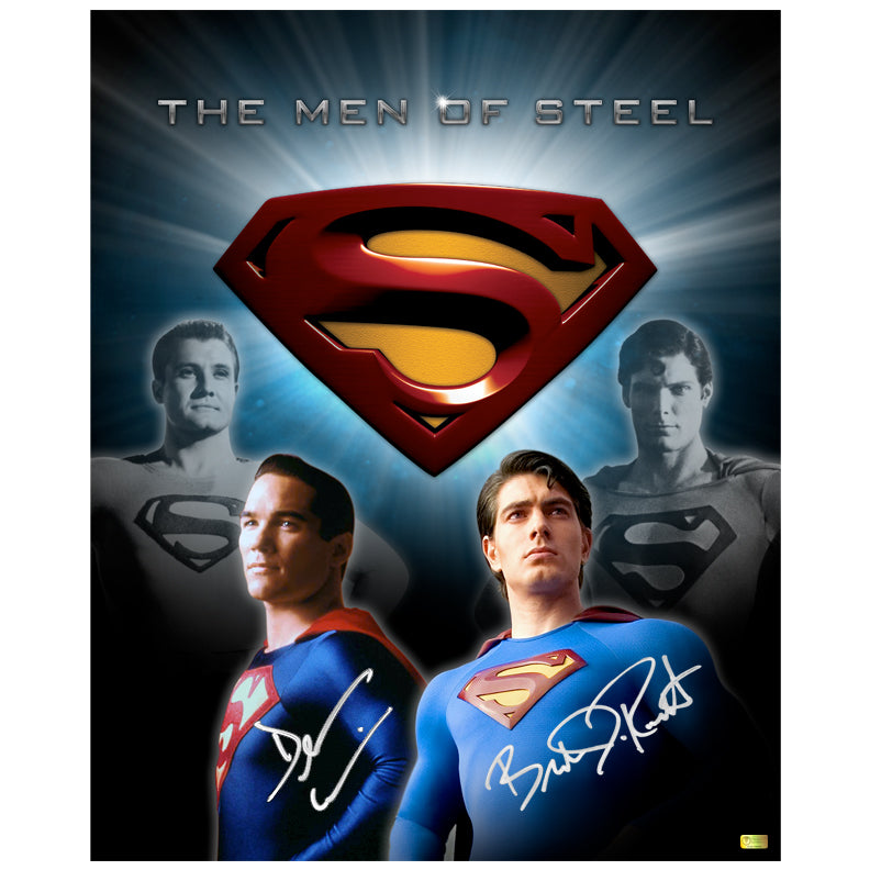 Brandon Routh and Dean Cain Autographed Superman The Men of Steel 16x20 Photo