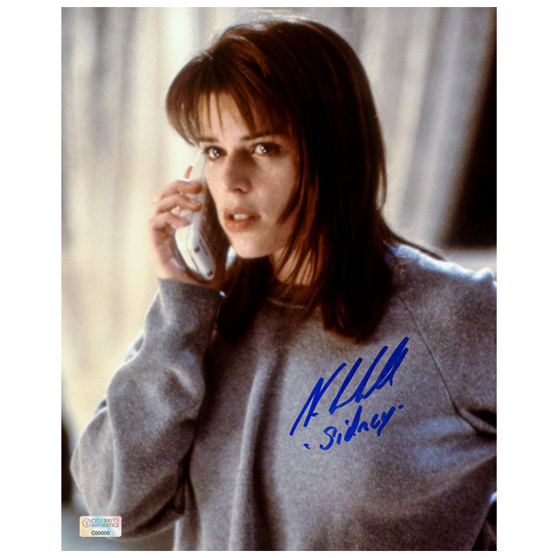 Neve Campbell Autographed Scream Phone Call 8x10 Scene Photo