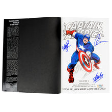 Load image into Gallery viewer, Chris Evans, Stan Lee, Sebastian Stan Autographed Captain America Omnibus Volume 1