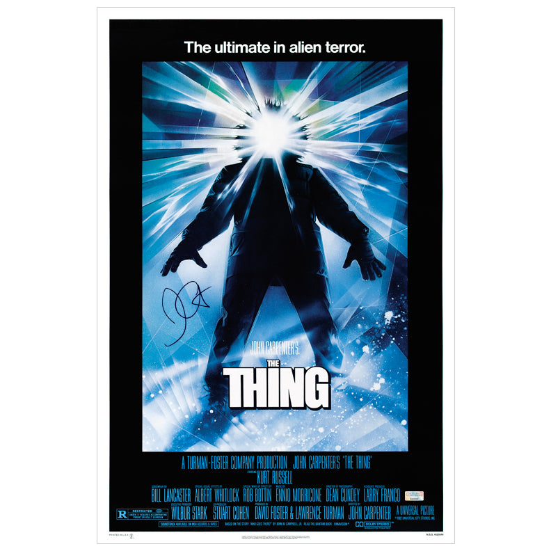 John Carpenter Autographed The Thing 16x24 Poster