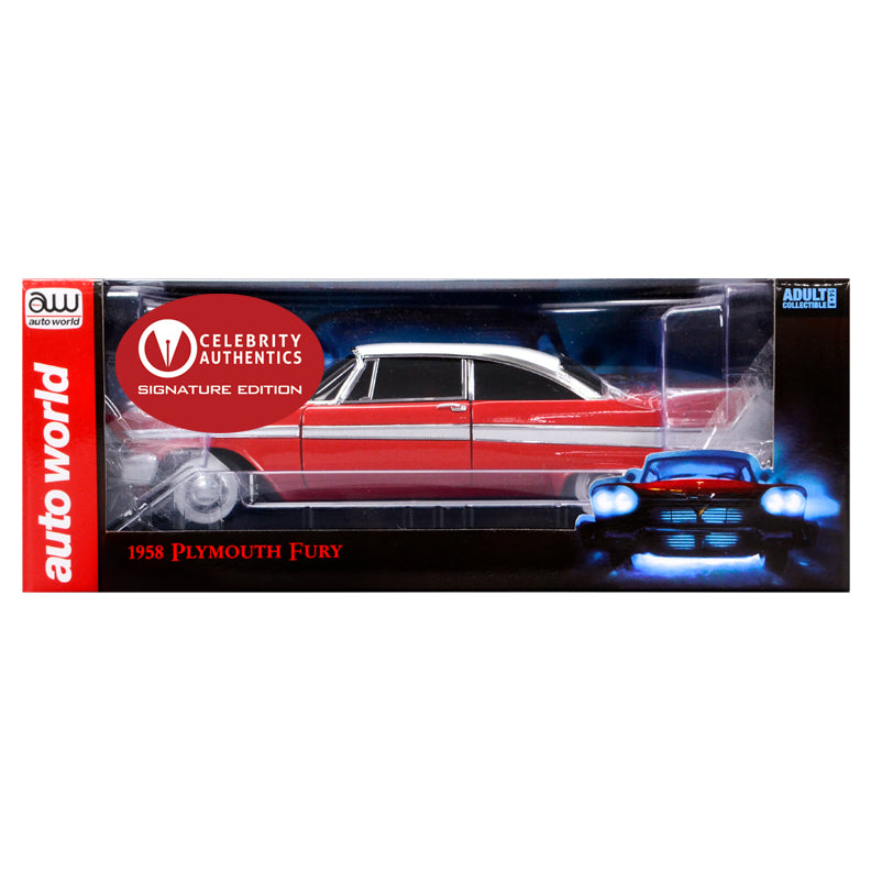 John Carpenter Autographed Christine (1983) 1958 Plymouth Fury 1:18 Diecast Car