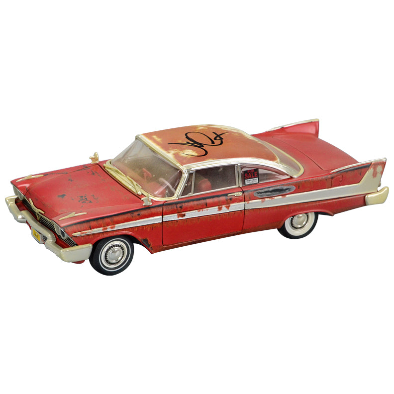John Carpenter Autographed Christine (1983) 1958 Plymouth Fury 1:18 Scale Rusted Die-Cast