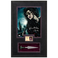 Load image into Gallery viewer, Helena Bonham Carter Autographed Harry Potter Bellatrix 11x14 Photo with Dagger Display