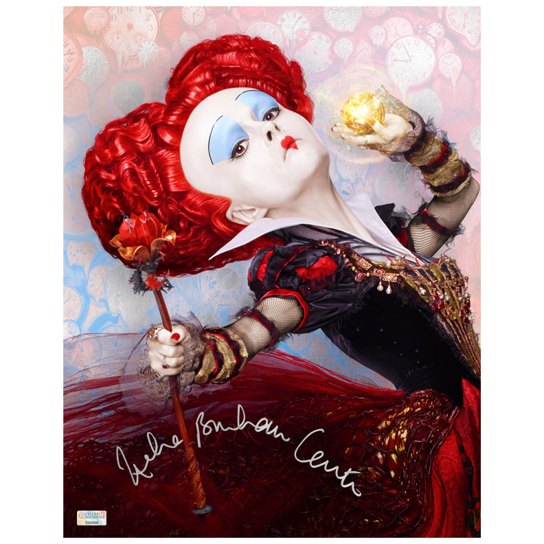 Helena Bonham Carter Autographed Alice in Wonderland The Red Queen 11x14 Photo