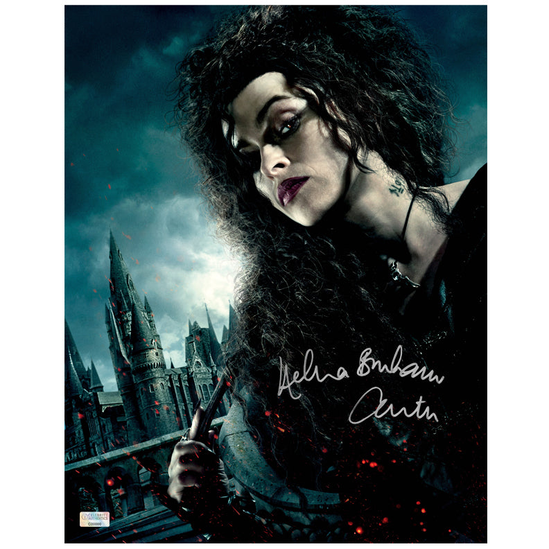 Helena Bonham Carter Autographed Harry Potter Bellatrix Lestrange 11x14 Photo