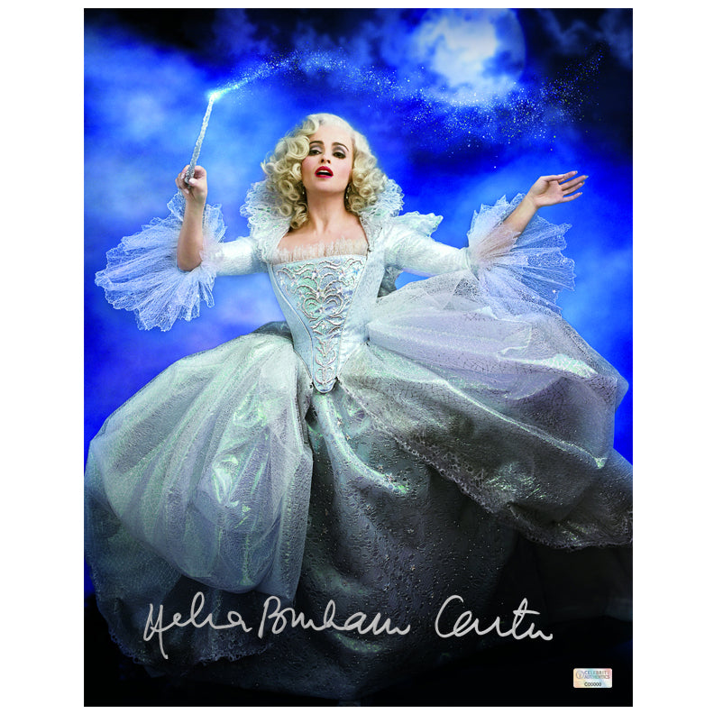 Helena Bonham Carter Autographed Cinderella Fairy Godmother 11x14 Photo