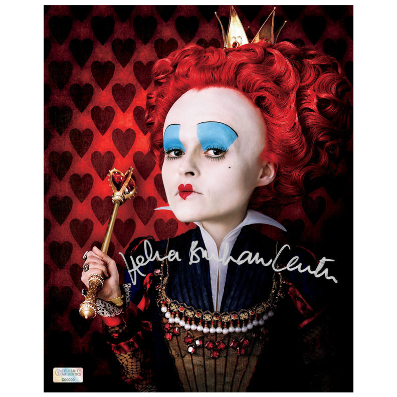 Helena Bonham Carter Autographed Alice in Wonderland The Red Queen 8x10 Photo