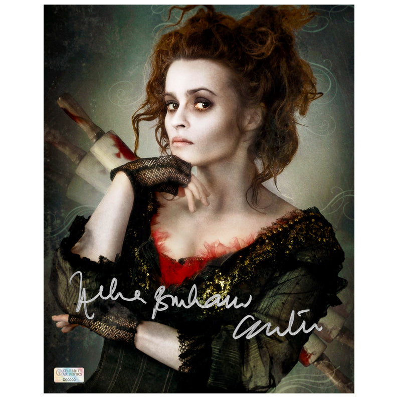 Helena Bonham Carter Autographed Sweeney Todd Mrs. Lovett 8x10 Photo