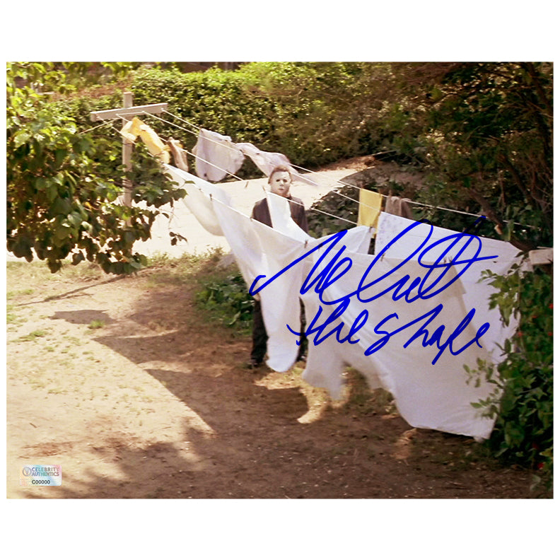 Nick Castle Autographed Halloween Michael Myers The Shape 8x10 Photo