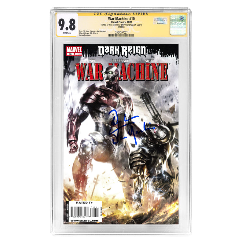 Don Cheadle Autographed War Machine #10 CGC SS 9.8