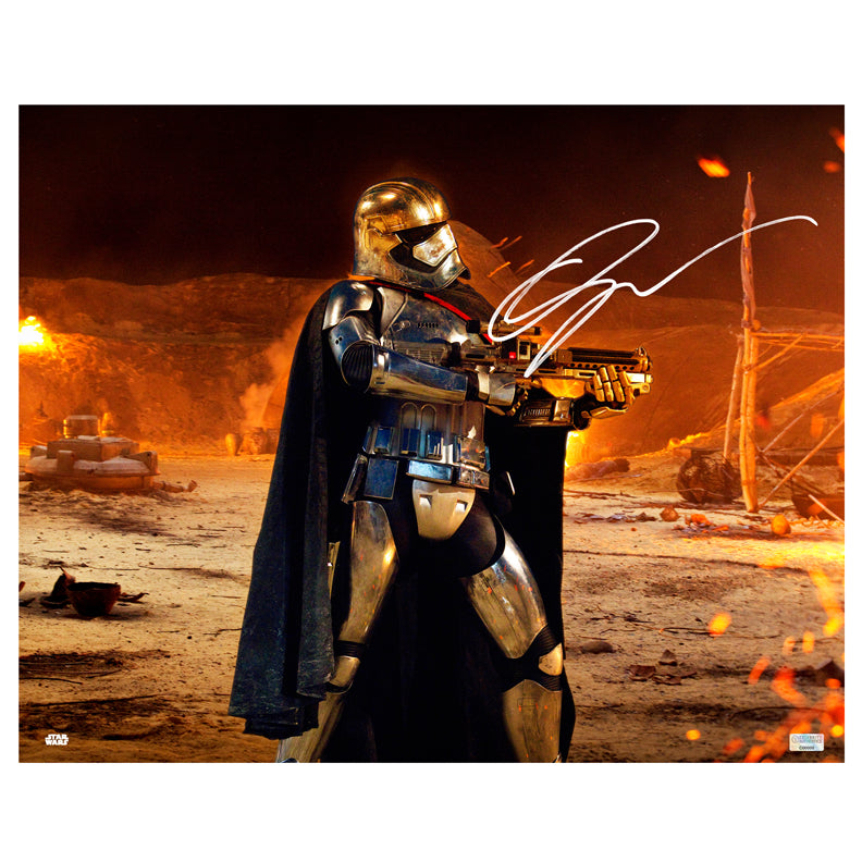 Gwendoline Christie Autographed Star Wars: The Force Awakens Attack On Tuanul 16x20 Photo