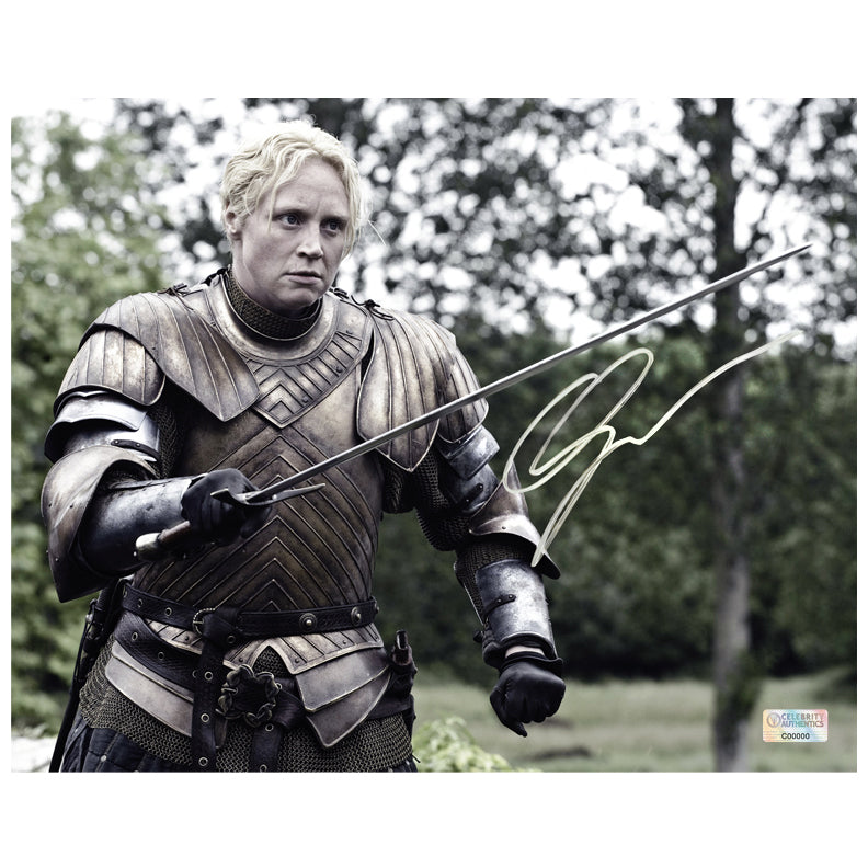 Gwendoline Christie Autographed Game of Thrones Brienne of Tarth 8x10 Action Photo