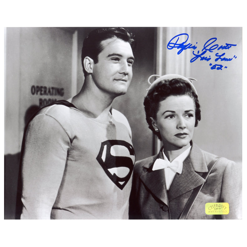 Phyllis Coates Autographed The Adventures of Superman 1952 8×10 Photo