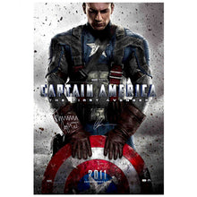 Load image into Gallery viewer, Chris Evans and Dominic Cooper Autographed Captain America: The First Avenger 27x40 Original Movie Poster