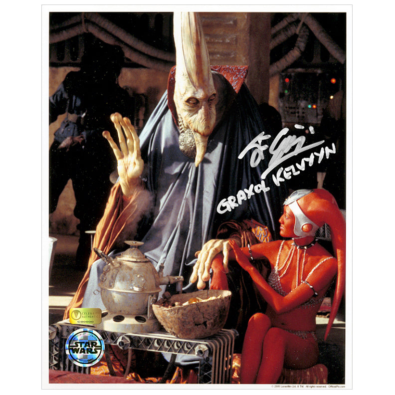 John Coppinger Autographed Star Wars: The Phantom Menace Graxol Kelvyyn 8×10 Photo