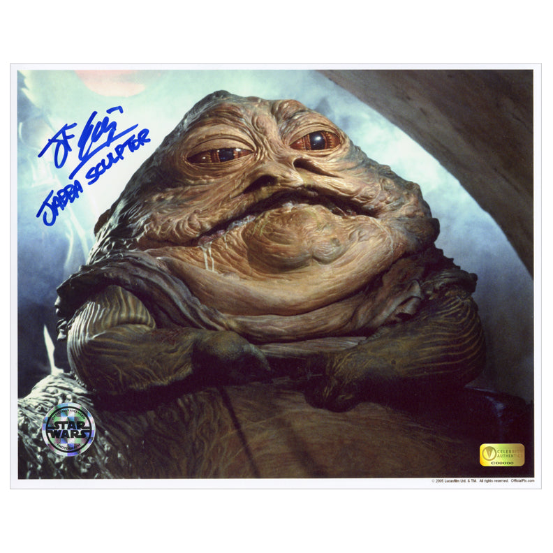 John Coppinger Autographed Star Wars: Return of the Jedi Jabba the Hutt 8×10 Photo