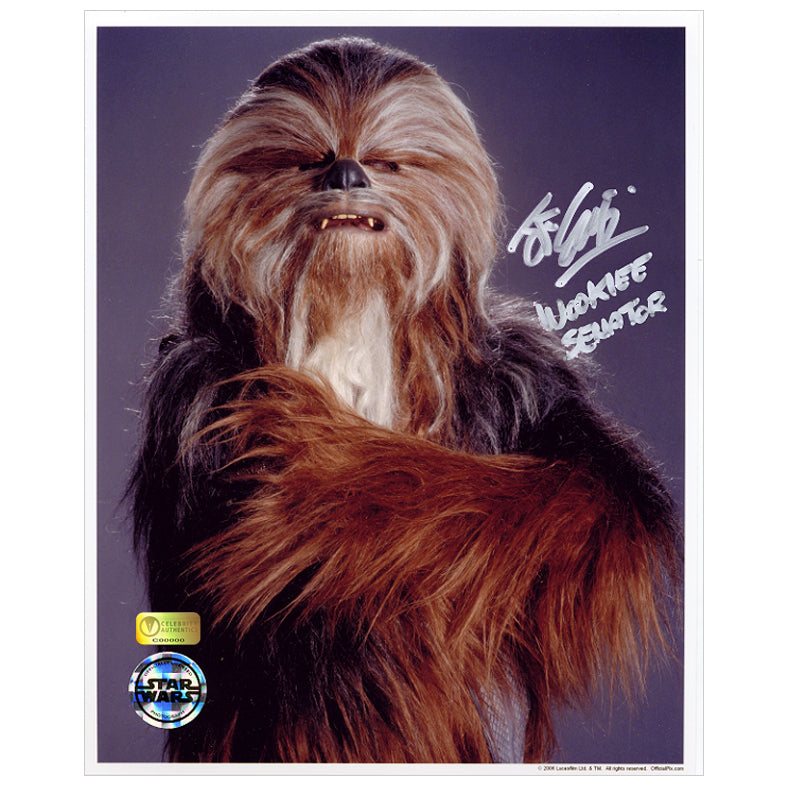 John Coppinger Autographed Star Wars Wookiee Senator 8×10 Photo