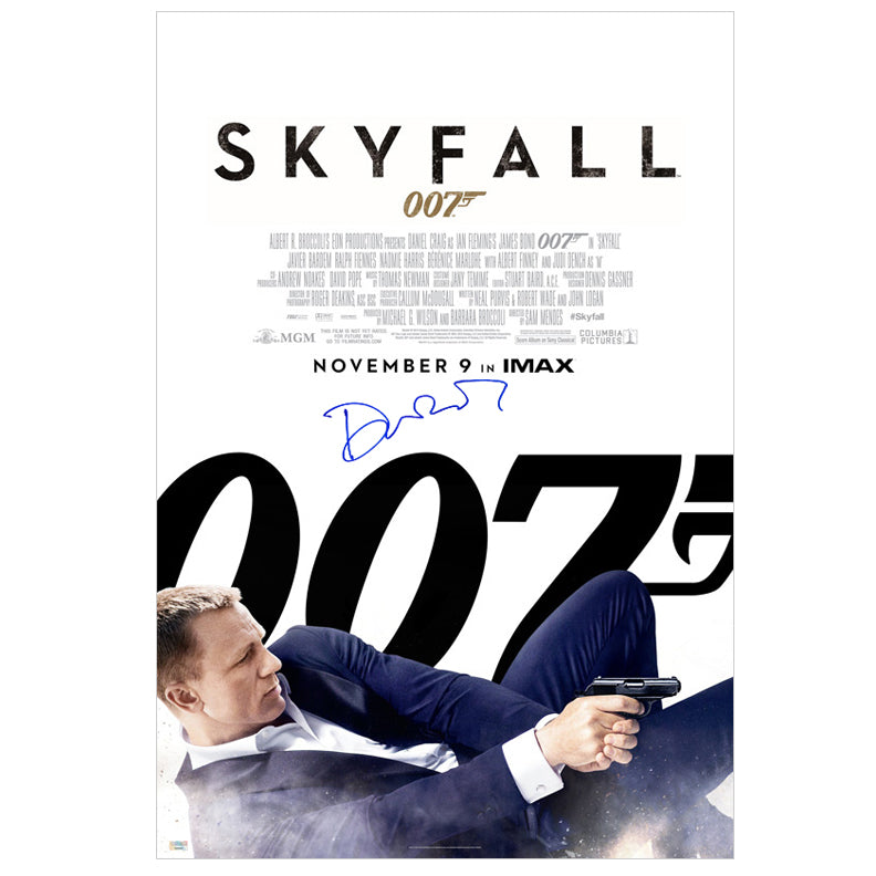 Daniel Craig Autographed James Bond 007 Skyfall 24x36 Single-Sided Movie Poster