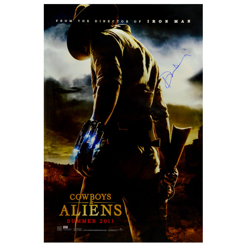 Daniel Craig Autographed 2011 Cowboys & Aliens Original 27×40 Double-Sided Movie Poster