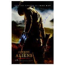 Load image into Gallery viewer, Daniel Craig Autographed 2011 Cowboys & Aliens Original 27×40 Double-Sided Movie Poster