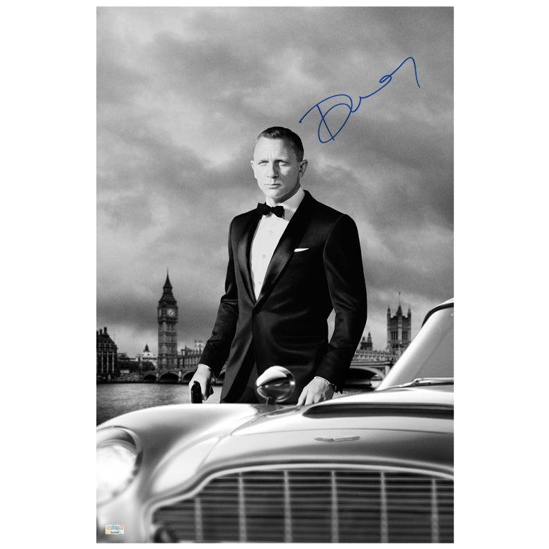Daniel Craig Autographed Skyfall London Calling 16x24 Photo