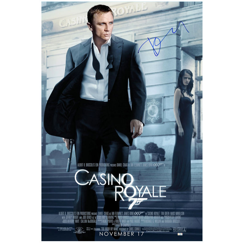 Daniel Craig Autographed James Bond Casino Royale 27x40 Single Sided Poster