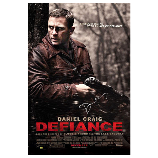 Daniel Craig Autographed 2008 Defiance Original 27×40 Double-Sided Movie Poster