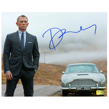 Load image into Gallery viewer, Daniel Craig Autographed James Bond Skyfall DB5 8×10 Photo