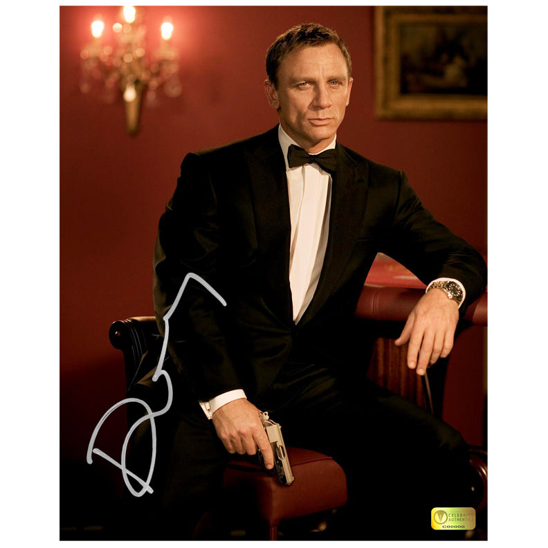 Daniel Craig Autographed James Bond Casino Royale Set 8x10 Photo