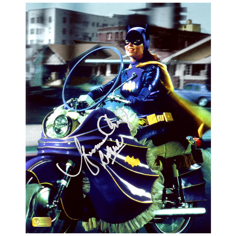 Yvonne Craig Autographed Classic Batman 1966 Batgirl Batcycle 8x10 Photo