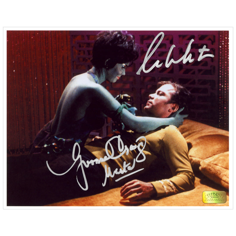 William Shatner, Yvonne Craig Autographed Star Trek Captain Kirk and Marta 8x10 Photo