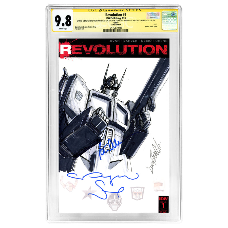 Megan Fox and Peter Cullen Autographed Revolution #1 CGC SS 9.8