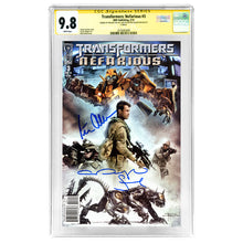 Load image into Gallery viewer, Megan Fox and Peter Cullen Autographed Transformers: Nefarious #3 CGC SS 9.8
