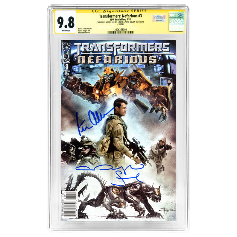 Megan Fox and Peter Cullen Autographed Transformers: Nefarious #3 CGC SS 9.8