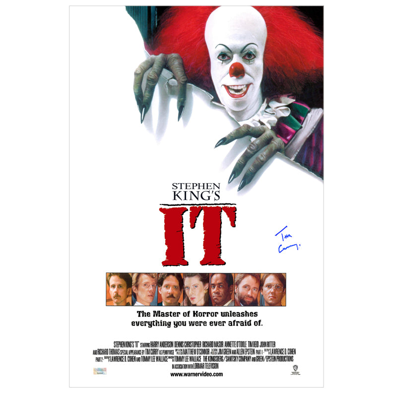 Tim Curry Autographed IT 16x24 Poster