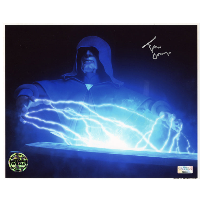 Tim Curry Autographed Star Wars: The Clone Wars Darth Sidious 8x10 Photo
