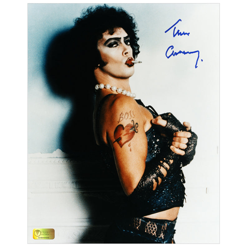 Tim Curry Autographed Rocky Horror Picture Show Dr. Frank-N-Furter 8x10 Photo