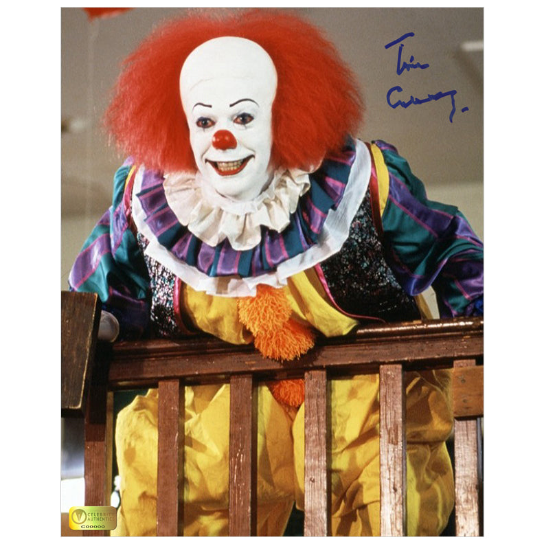 Tim Curry Autographed It Pennywise 8x10 Photo